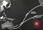 Image of US ocean supply lines to Australia Pacific Theater, 1942, second 39 stock footage video 65675062279