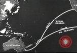 Image of US ocean supply lines to Australia Pacific Theater, 1942, second 40 stock footage video 65675062279