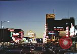 Image of buildings in city Las Vegas Nevada USA, 1960, second 28 stock footage video 65675062290