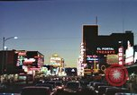 Image of buildings in city Las Vegas Nevada USA, 1960, second 38 stock footage video 65675062290