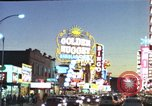 Image of buildings in city Las Vegas Nevada USA, 1960, second 39 stock footage video 65675062290