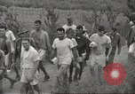 Image of US prisoners of war liberated from Japanese prison in World War II Cabanatuan Philippines, 1945, second 22 stock footage video 65675062318
