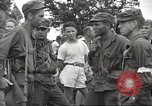 Image of American prisoners of war liberated from Japanese prison camp Guimba Philippines, 1945, second 34 stock footage video 65675062320