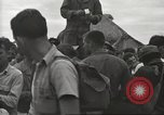 Image of American prisoners of war liberated from Japanese prison camp Guimba Philippines, 1945, second 43 stock footage video 65675062320