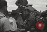 Image of American prisoners of war liberated from Japanese prison camp Guimba Philippines, 1945, second 46 stock footage video 65675062320