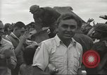 Image of American prisoners of war liberated from Japanese prison camp Guimba Philippines, 1945, second 49 stock footage video 65675062320