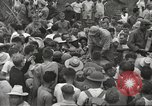 Image of American prisoners of war liberated from Japanese prison camp Guimba Philippines, 1945, second 62 stock footage video 65675062320