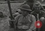 Image of Americans rescued from Japanese prison camp ride in trucks Luzon Island Philippines, 1945, second 31 stock footage video 65675062322