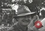 Image of Americans rescued from Japanese prison camp ride in trucks Luzon Island Philippines, 1945, second 55 stock footage video 65675062322