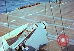 Image of aircraft carrier Pacific Ocean, 1944, second 39 stock footage video 65675062399