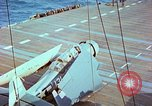 Image of aircraft carrier Pacific Ocean, 1944, second 40 stock footage video 65675062399