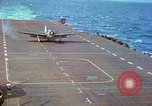 Image of aircraft carrier Pacific Ocean, 1944, second 44 stock footage video 65675062399