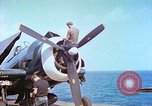 Image of aircraft carrier Pacific Ocean, 1944, second 4 stock footage video 65675062401
