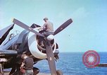 Image of aircraft carrier Pacific Ocean, 1944, second 5 stock footage video 65675062401