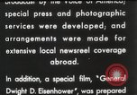 Image of General Dwight D Eisenhower Brussels Belgium, 1951, second 37 stock footage video 65675062423