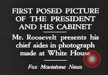 Image of Roosevelt's cabinet United States USA, 1933, second 2 stock footage video 65675062430