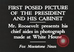 Image of Roosevelt's cabinet United States USA, 1933, second 6 stock footage video 65675062430