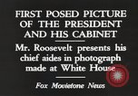 Image of Roosevelt's cabinet United States USA, 1933, second 10 stock footage video 65675062430