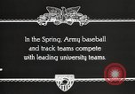 Image of West Point cadets West Point New York USA, 1931, second 9 stock footage video 65675062470