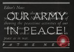 Image of United States Army peacetime accomplishments United States USA, 1934, second 8 stock footage video 65675062506