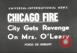Image of Chicago skyline and O'Leary home Chicago Illinois USA, 1955, second 14 stock footage video 65675062509