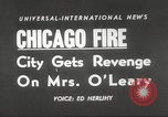 Image of Chicago skyline and O'Leary home Chicago Illinois USA, 1955, second 15 stock footage video 65675062509