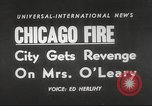 Image of Chicago skyline and O'Leary home Chicago Illinois USA, 1955, second 16 stock footage video 65675062509