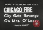 Image of Chicago skyline and O'Leary home Chicago Illinois USA, 1955, second 17 stock footage video 65675062509