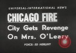 Image of Chicago skyline and O'Leary home Chicago Illinois USA, 1955, second 18 stock footage video 65675062509