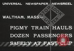 Image of Children ride on train pulled by small locomotive Waltham Massachusetts USA, 1932, second 3 stock footage video 65675062519