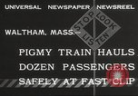 Image of Children ride on train pulled by small locomotive Waltham Massachusetts USA, 1932, second 4 stock footage video 65675062519