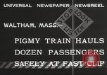 Image of Children ride on train pulled by small locomotive Waltham Massachusetts USA, 1932, second 7 stock footage video 65675062519