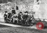 Image of Children ride on train pulled by small locomotive Waltham Massachusetts USA, 1932, second 19 stock footage video 65675062519