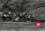 Image of Children ride on train pulled by small locomotive Waltham Massachusetts USA, 1932, second 27 stock footage video 65675062519