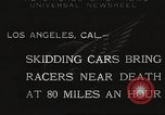 Image of car race Los Angeles California USA, 1932, second 1 stock footage video 65675062520