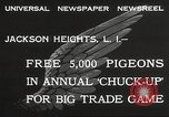 Image of released pigeons Jackson Heights Long Island New York USA, 1932, second 3 stock footage video 65675062521