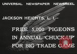 Image of released pigeons Jackson Heights Long Island New York USA, 1932, second 4 stock footage video 65675062521