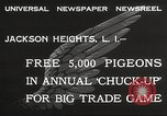 Image of released pigeons Jackson Heights Long Island New York USA, 1932, second 5 stock footage video 65675062521