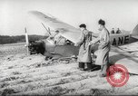 Image of crash landing of airplane Germany, 1953, second 15 stock footage video 65675062539