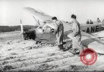 Image of crash landing of airplane Germany, 1953, second 16 stock footage video 65675062539