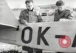 Image of crash landing of airplane Germany, 1953, second 24 stock footage video 65675062539