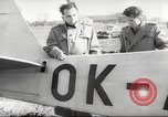 Image of crash landing of airplane Germany, 1953, second 25 stock footage video 65675062539