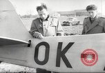 Image of crash landing of airplane Germany, 1953, second 26 stock footage video 65675062539