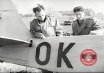 Image of crash landing of airplane Germany, 1953, second 27 stock footage video 65675062539