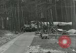 Image of A-4 missile towed for simulated launch at Test Stand 5 Peenemunde Germany, 1943, second 2 stock footage video 65675062547