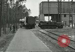 Image of A-4 missile towed for simulated launch at Test Stand 5 Peenemunde Germany, 1943, second 5 stock footage video 65675062547