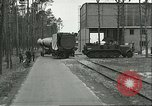 Image of A-4 missile towed for simulated launch at Test Stand 5 Peenemunde Germany, 1943, second 7 stock footage video 65675062547
