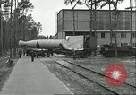 Image of A-4 missile towed for simulated launch at Test Stand 5 Peenemunde Germany, 1943, second 14 stock footage video 65675062547