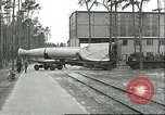 Image of A-4 missile towed for simulated launch at Test Stand 5 Peenemunde Germany, 1943, second 16 stock footage video 65675062547