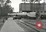 Image of A-4 missile towed for simulated launch at Test Stand 5 Peenemunde Germany, 1943, second 18 stock footage video 65675062547